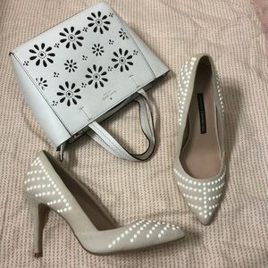 French connection studded heels